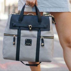 Henri Bendel Canvas Jetsetter Backpack Mini